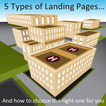 types of landing page