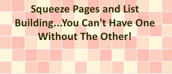 squeeze page mailing list